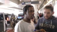Rocky meets with autograph fans before departing at LAX Airport in Los Angeles in Celebrity Sightings in Los Angeles
