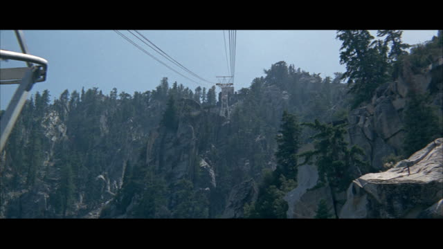 1967POV Rocky mountain seen from gondola car