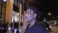 Rocky talks about meeting Sylvester Stallone outside Catch Nightclub in West Hollywood in Celebrity Sightings in Los Angeles