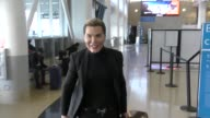 INTERVIEW Rodrigo Alves talks about how much he hates American Airlines while departing at LAX Airport in Los Angeles in Celebrity Sightings in Los...