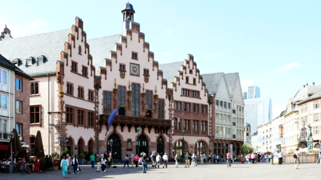Roemer Building on Roemerberg In Frankfurt (4K/UHD to HD)