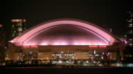 T/L, MS, Rogers Centre dome at night, Toronto, Ontario, Canada