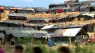 Rohingya refugee crisis / Aung San Suu Kyi makes first speech BANGLADESH EXT Various of large numbers of Rohingya Muslim refugees in refugee camp...