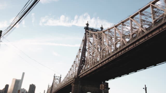 B Roll of NYC's Queensboro Bridge on a summer afternoon