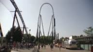 Roller Coaster Ride - Huge Drop - Amusement Park