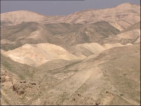 Rolling hills characterize a portion of the Wadi Qelt, Israel.