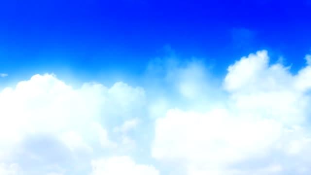Endlos wiederholbar rollenden Sommer Himmel (Zeitraffer