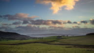 Rolling Yorkshire Rural Landscape - Time Lapse