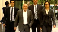 Roman Abramovich wins legal battle against Boris Berezovsky ENGLAND London EXT Boris Berezovsky along and into court with others tells unseen...