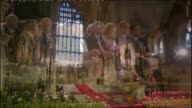 Cardinal Cormac MurphyO'Connor dies LIB / 1792010 Westminster Hall Westrminster Hall laid out for a speech from Pope Benedict XVI Various of former...