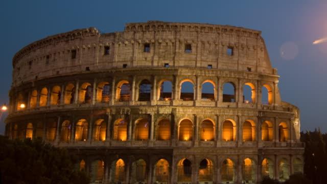 Roman Coliseum timelapse dusk