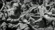 Roman empire battle bas relief