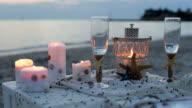 Romantic decoration on the sea side