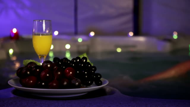 Romantic evening in jaccuzzi