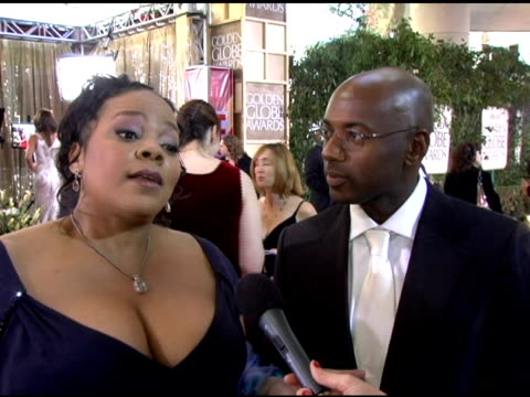 Romany Malco and Tonye Patano On the show's nominationson the feeling of being up for an award and being at the show at the 2006 Golden Globe Awards...
