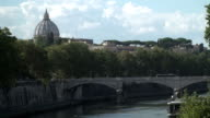 Rome Tevere river in the center