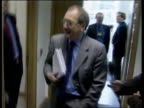 Ron Davies to stand down from parliament LIB Cardiff Former Welsh Secretary Ron Davies MP along and into room Davies sat at desk Welsh Assembly First...