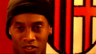 Ronaldinho interview Beckham and him have different styles but he would like to improve his own style too He wants to celebrate lots of goals with...