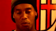 Milan INT Ronaldinho interview SOT On his relationship with Frank Rijkaard / AC Milan is one of the best clubs in the world / Happy to know that...