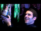 Ronnie O'Sullivan lifts trophy and acknowledges crowd World Snooker Championship Final The Crucible 04 May 2008