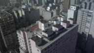 WS AERIAL Roof of high-rise buildings in city / Sao Paolo, Brazil