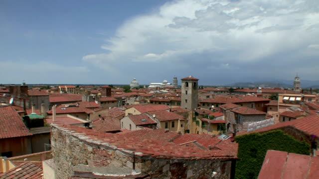 WS PAN Rooftops of city / Pisa, Tuscany, Italy
