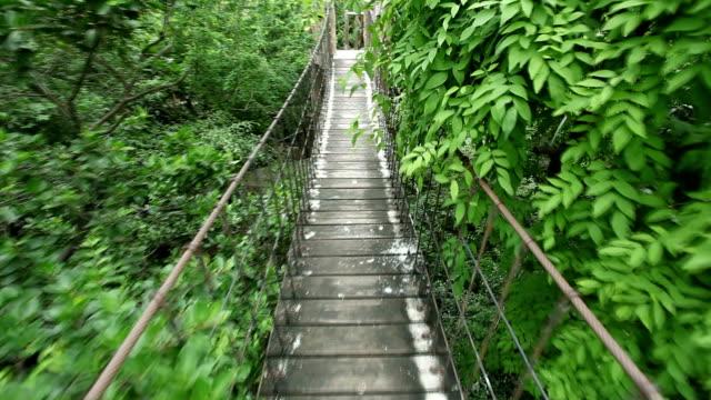 Rope walkway through