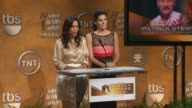 Rosario Dawson and Angie Harmon announce the 17th Annual Screen Actors Guild Awards nominees at the The 17th Annual Screen Actors Guild Awards...