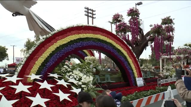 KTLA Rose Parade Floats on View to Public in Pasadena