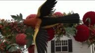 KTLA Rose Parade Floats on View to Public in Pasadena