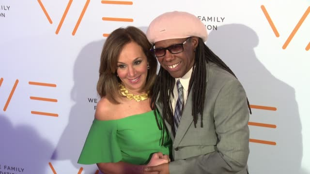 Roseanna Scotto and Nile Rodgers at We Are Family Foundation 2016 Celebration Gala at Hammerstein Ballroom on April 29 2016 in New York City
