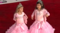 Rosie Grace McClelland Sophia Grace Brownlee at the 2011 American Music Awards Arrivals at Los Angeles CA