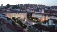WS HA Rossio Square at dusk / Lisbon, Portugal