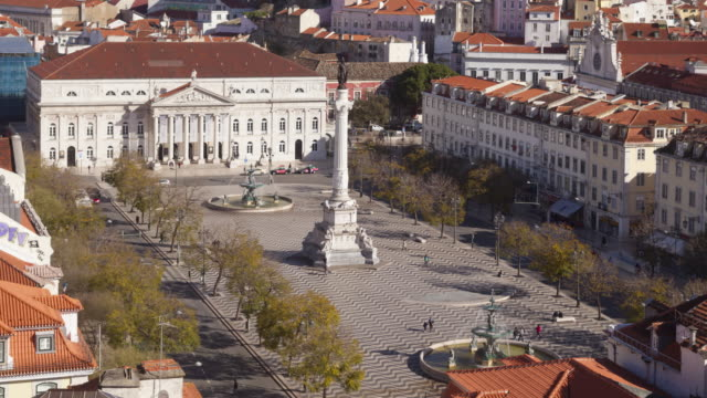 Rossio Square in Lisbon, Portugal.