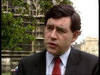 Rosyth Naval base Westminster CMS Gordon Brown MP intvwd SOF the future of the naval bases must be guaranteed to ensure the security of jobs EXT CMS...