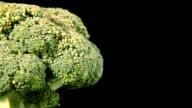 Rotating Broccolli Close-Up