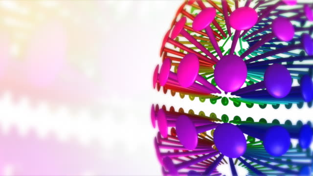 Rotating colored pinheads