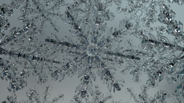 Rotating Ice Crystals Topdown Blue (loop)
