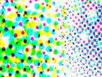 Rotating multicolored dots