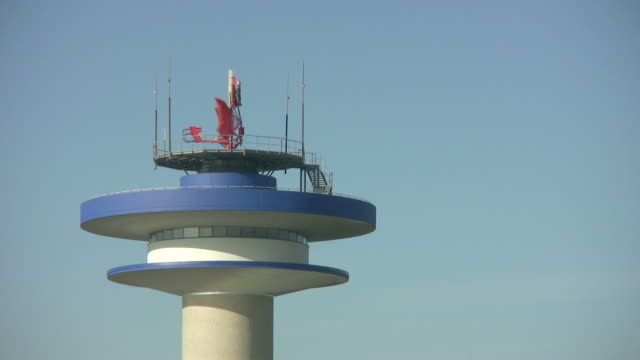 Rotating Radar on Aiport Tower 'seamless loop' HD