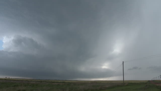 Rotating Supercell Thunderstorm Time Lapse Sequence