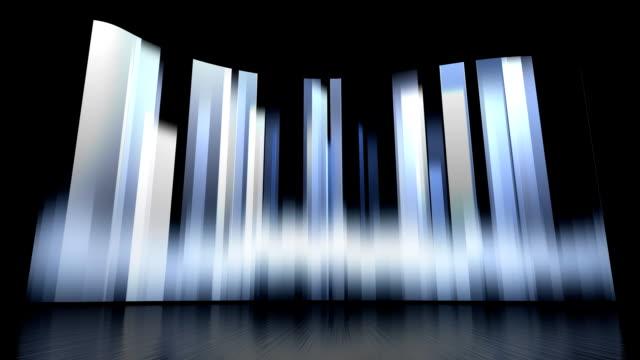 Rotierende vertikale Bars Hintergrund-Set