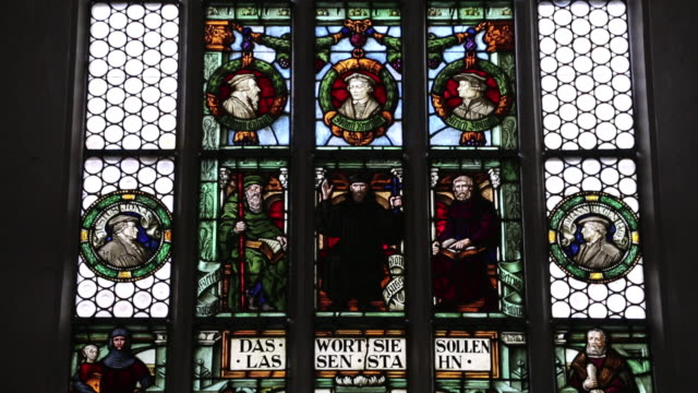 Rothenburg ob der Tauber, stainglass in Saint Jacob's church,