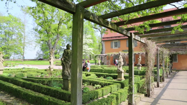 Rothenburg ob der Tauber, view of the Castle Garden