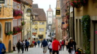 Rothenburg Obere Schmiedgasse And Siebers Tower (4K/UHD to HD)
