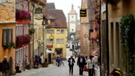 TU Rothenburg Obere Schmiedgasse And Siebers Tower (4K/UHD to HD)