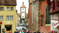 Rothenburg Schmiedgasse And Siebers Tower (4K/UHD to HD)