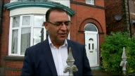 Early inspection of child protection services ordered South Yorkshire Rotherham Jahangir Akhtar interview on front doorstep of house SOT since 2010...