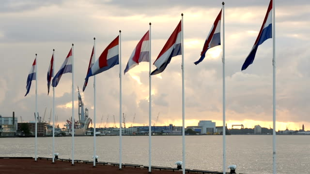 Rotterdam: Flags from Netherlands