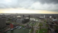 Rotterdam Harbor,elevated view